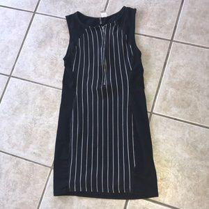 Zipper mini dress